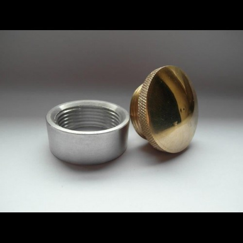 Brass Vented Gas Cap and Steel Bung Kit chopper Weld in Npt Bobber